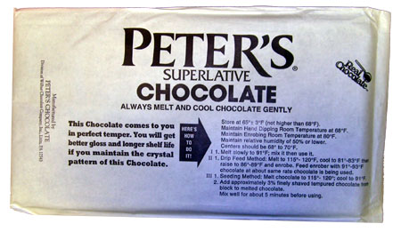 Peter's Real Milk Chocolate 10 Pound Block