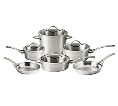 Calphalon Contemporary Stainless 10-Pc. Cookware Set