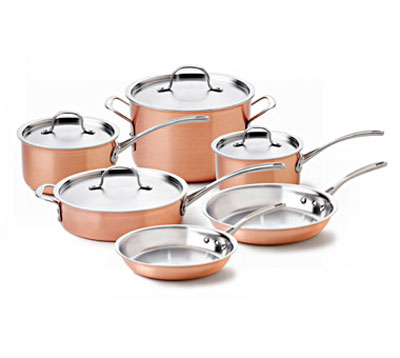Calphalon Tri-Ply Copper 10-Pc. Cookware Set