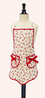 Jessie Steele Retro Cherries Print Children's Bib Apron