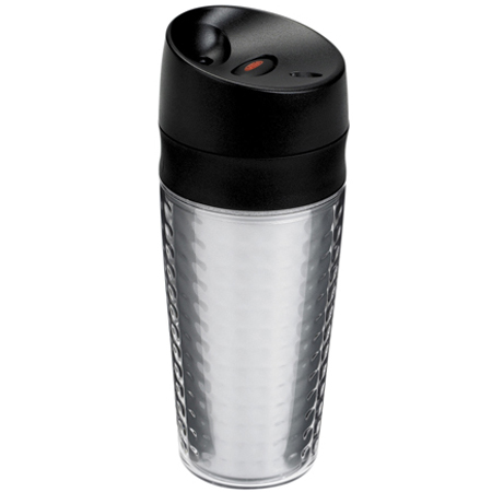 OXO GOOD GRIPS LiquiSeal Travel Mug clear texture