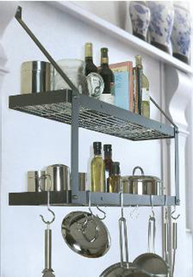 Rogar Double Bookshelf Pot Racks