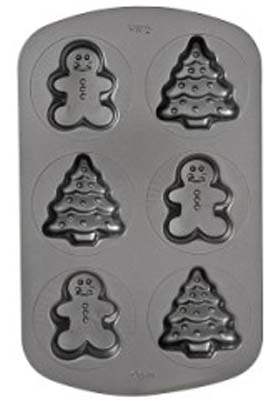 Wilton Gingerbread Boys & Trees Mini Cake Pan