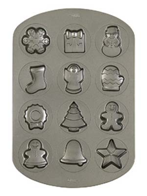 Wilton Holiday Cookie Shapes Pan