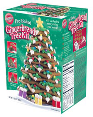 Pre-Baked Gingerbread Tree Kit