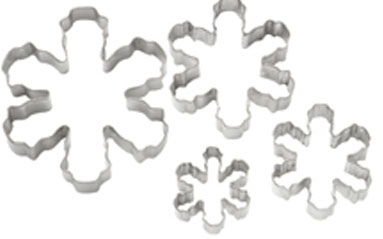 Wilton 4-Pc. Nesting Snowflake Cutter Set