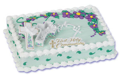 Bakery Crafts First Communion Cross with Rosary Cake Kit