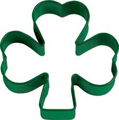 Green Shamrock Metal Cookie Cutter