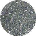 Metallic Silver Coarse Sugar
