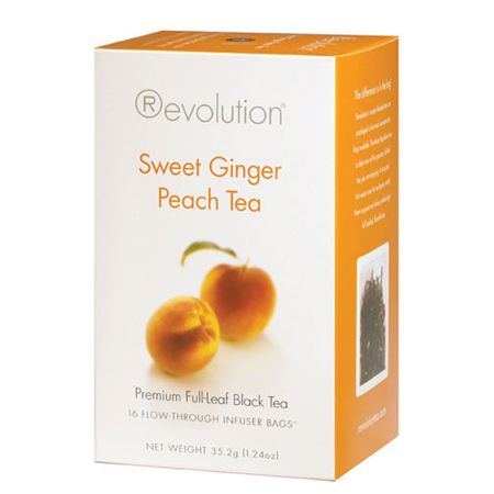 Revolution Tea Sweet Ginger Peach Tea 16 Ct. Infuser Bags
