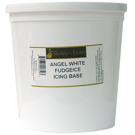 Angel White Fudgeice Icing Base 3 Pound Tub