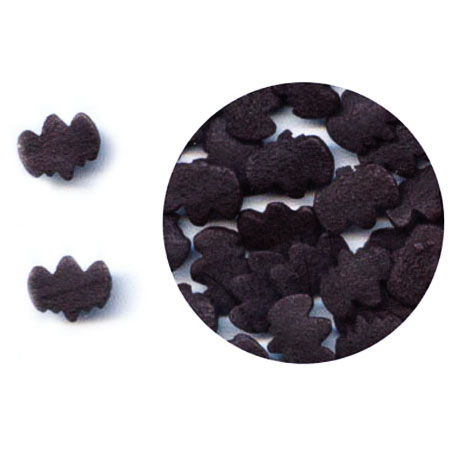 TBK Black Bats Shaped Sprinkles