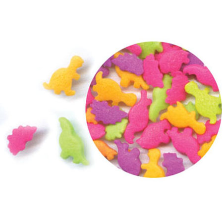 Bright Dinosaurs Shaped Sprinkles
