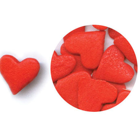 Jumbo Red Hearts Shaped Sprinkles