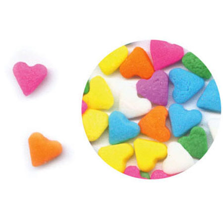 Multi Colored Hearts Shaped Sprinkles