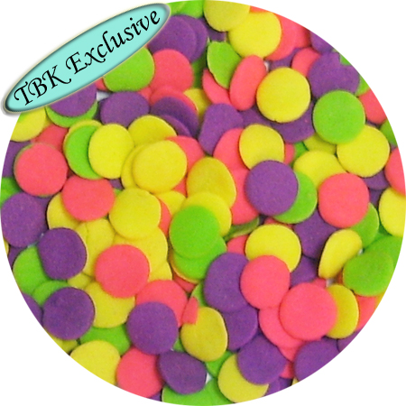 Jumbo Neon Confetti Shaped Sprinkles
