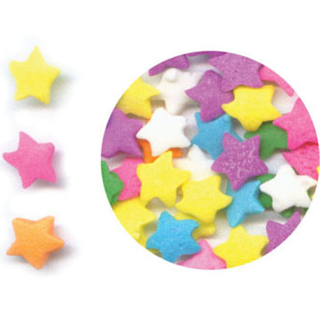 Pastel Stars Shaped Sprinkles