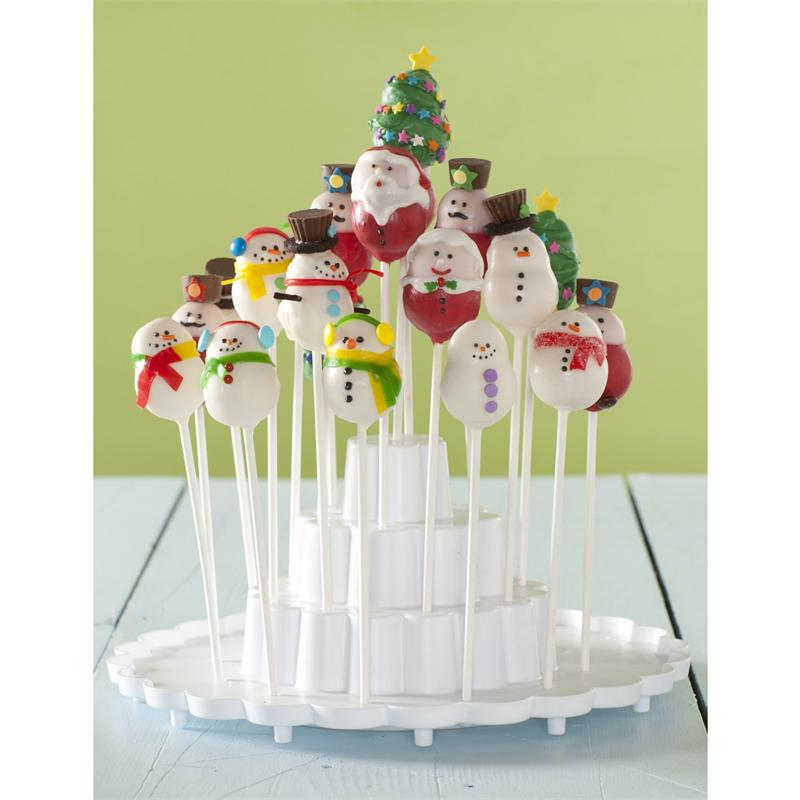 Nordic Ware 12 Cavity Snowman Cake Pops Pan Red