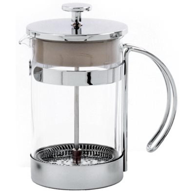 French Press Coffee Maker Images : Norpro Glass & Chrome French Press Coffee Maker, 25-oz.