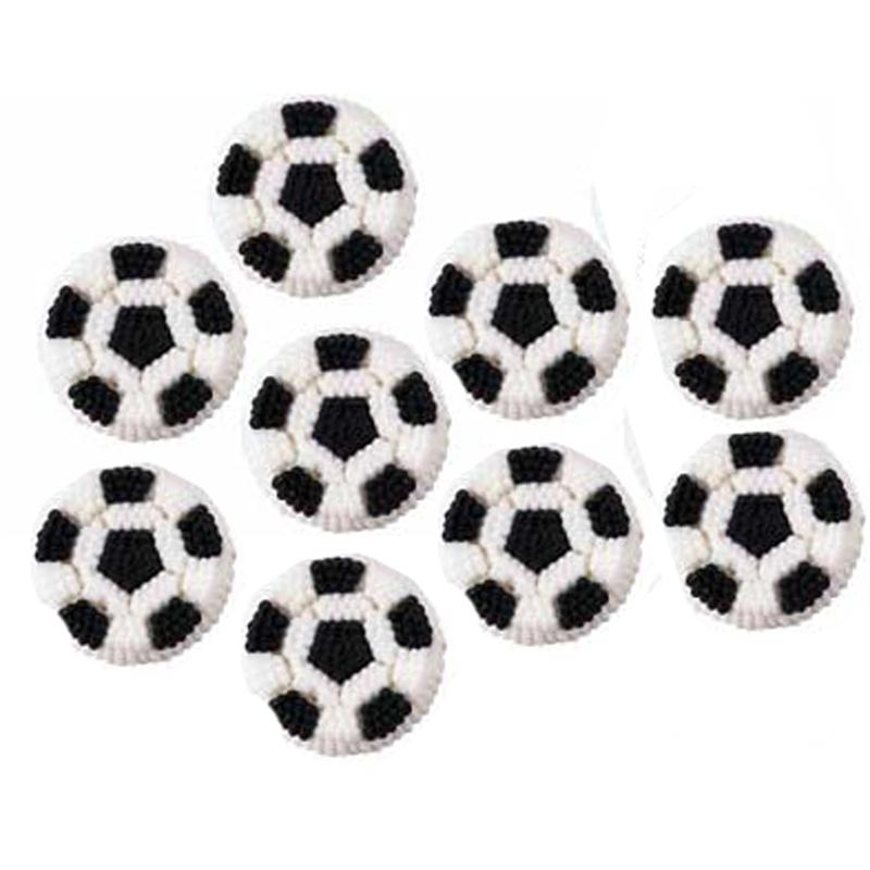Soccer Ball Edible Sugar Decorations Beauteous Wilton Soccer Ball Icing Decorations Design Inspiration