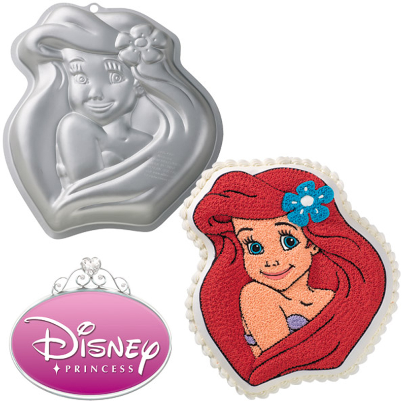 Wilton disney princess ariel cake pan for Ariel cake decoration