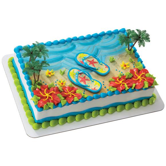 Publix Cake Decorator Job Description : Decopac Flip-Flops Cake Kit