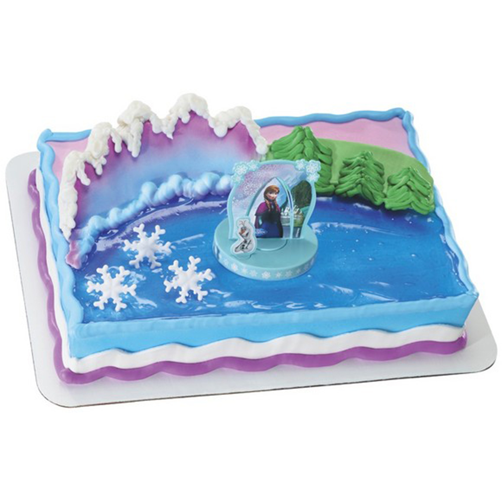 Disney Cake Decor : Decopac Disney Frozen Anna and Elsa Cake Kit