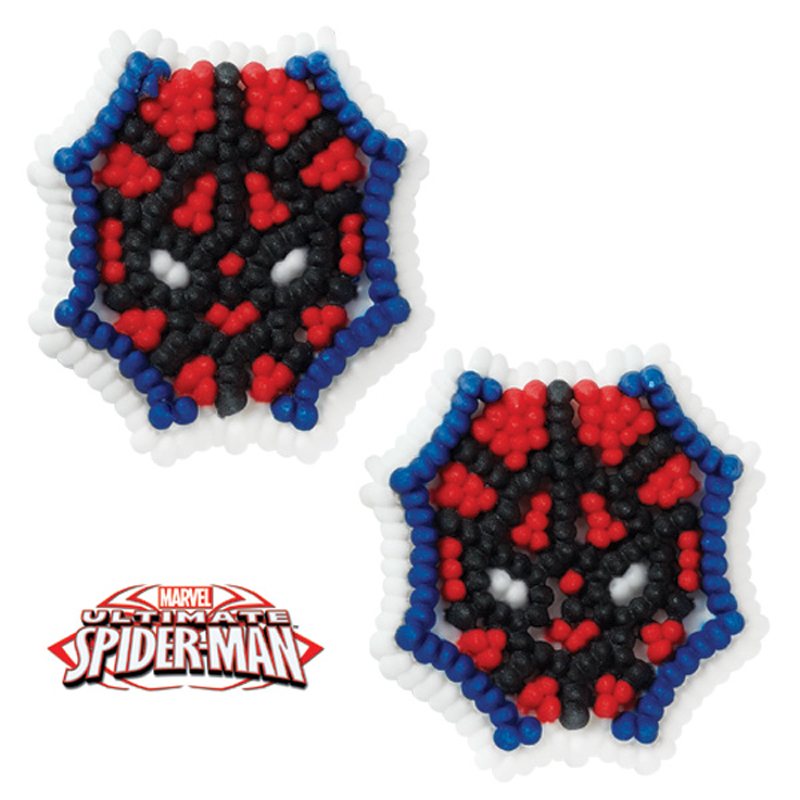 Wilton spider man ultimate icing decorations for Spiderman decorations