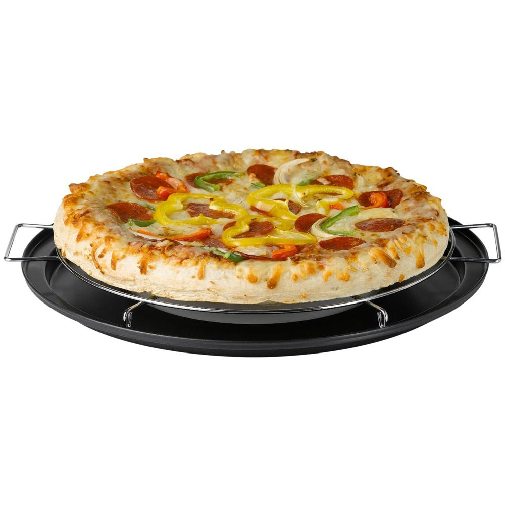 Nifty Pizza Pie Baking Rack With Integrated Drip Pan
