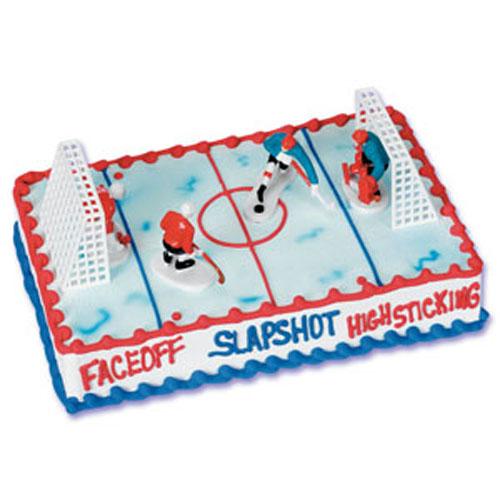 Ice Hockey Cake Decorating Kit : Bakery Crafts Hockey Cake Kit
