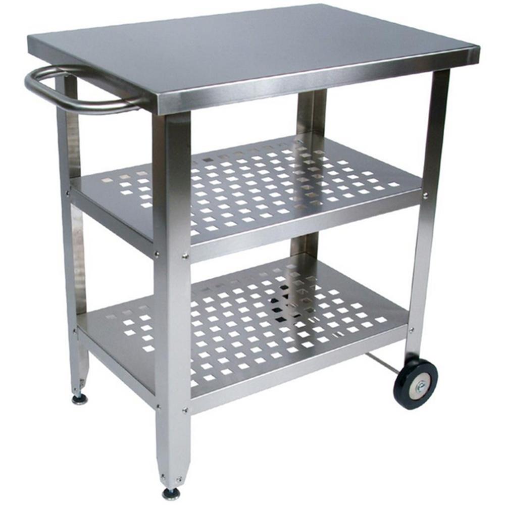 John Boos Maple And Stainless Cucina Elegante Kitchen Cart: John Boos Stainless Steel Cucina Americana Avanti