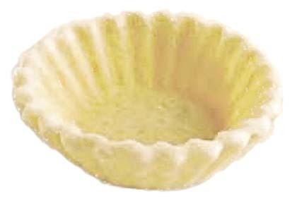 Tbk fluted round mini canape shell 210 per box for Canape pastry shells