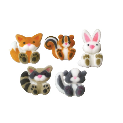 Cake Decorating Sugar Animals : Lucks Woodland Animals Sugar Decorations