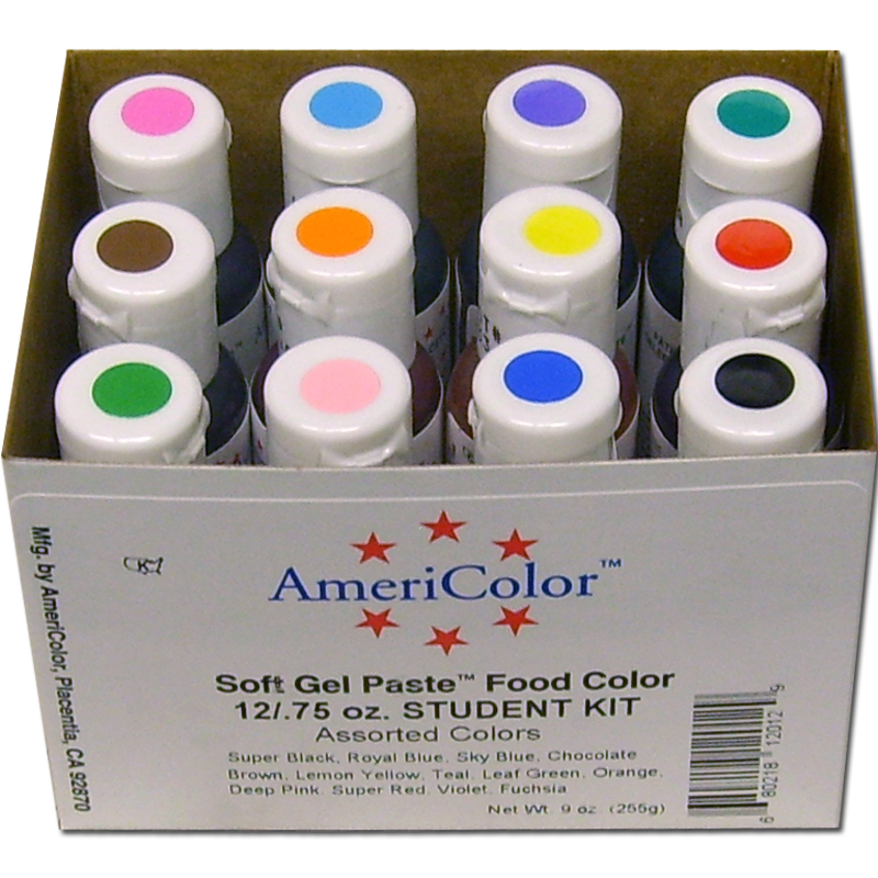 AmeriColor Soft Gel Paste Student Food Color Kit