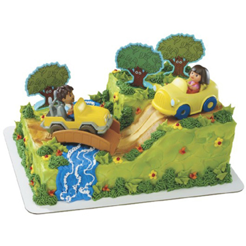 Dora And Diego Safari Party Cake Decorating Kit Car ...