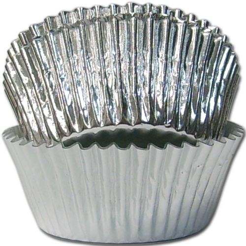 Mini Paper Candy Cup : Tbk silver foil mini baking candy cup with