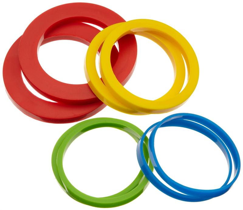 9fa0ece47 Silicone Rolling Pin Rings, Set of 4