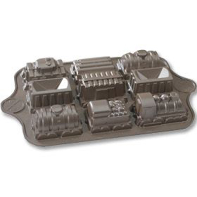 Nordic Ware Platinum Train Cake Pan Set