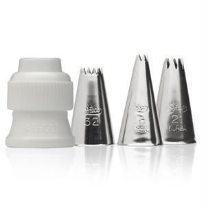 Ateco 4 Piece Stainless Steel Star Tube Set