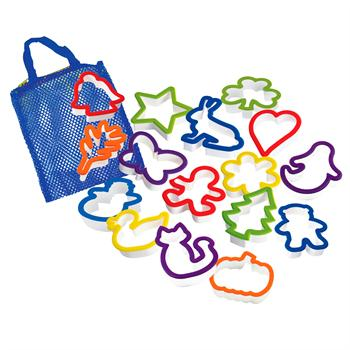 Curious Chef 16-Piece Cookie Cutter Collection