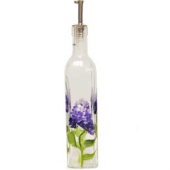 Grant Howard 16 oz Blue Hydrangea Glass Cruet