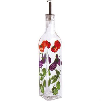 Grant Howard 16 oz Whimsical Vegetables Glass Cruet