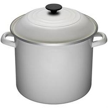 Le Creuset White Enamel On Steel 8 Quart Stock Pot