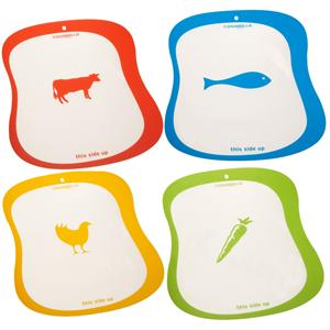 Casabella Silicone Cutting Board, Set of 4