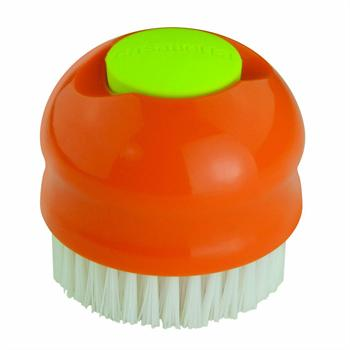 Casabella 2-in-1 Veggie Brush, Orange and Lime