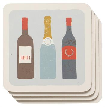 Now Designs Cork Backed Coasters, Vintage, Set of 4