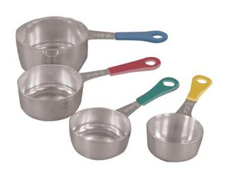 Fox Run 4-Piece Stainless Steel Measuring Cups w/ Colored Handles