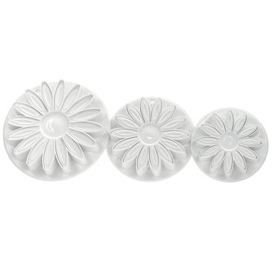 Fox Run Brands 3-Piece Sunflower Fondant Plunger Cutter Set