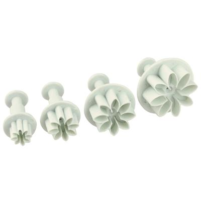 Fox Run Brands 4-Piece Daisy Fondant Plunger Cutter Set