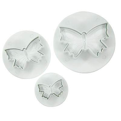 Fox Run Brands 3-Piece Butterfly Fondant Plunger Cutter Set